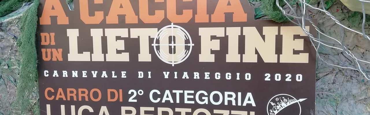 Gabriele Levantini Luca Bertozzi A caccia di un lieto fine carro carnevale Viareggio 2020